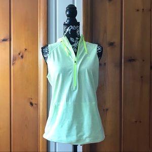 Nike Obsessed Sleeveless Hooded Half-Zip Top